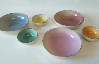 ColourBlush flat bowl ceramic