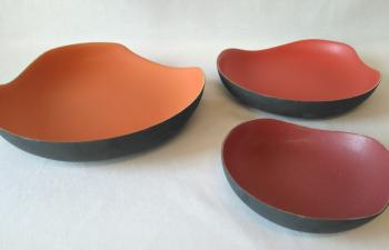 ColourContrast Curve flat bowl ceramic